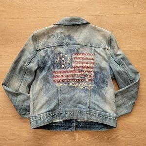 Lauren Jeans by Ralph Lauren American Flag Jacket